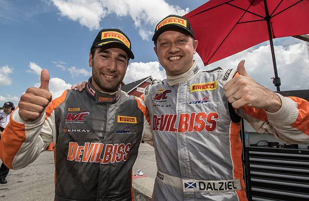 Morad and Dalziel paired for success in PWC. Photo: PWC